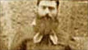 Archived photograph of Ned Kelly
