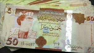 Old Libyan banknotes