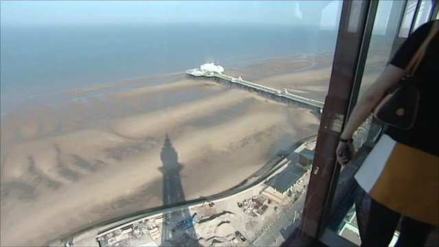 The view from the top of Blackpool Tower
