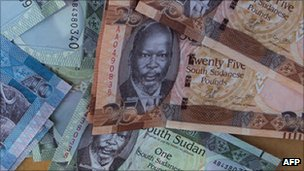 South Sudan pound bills