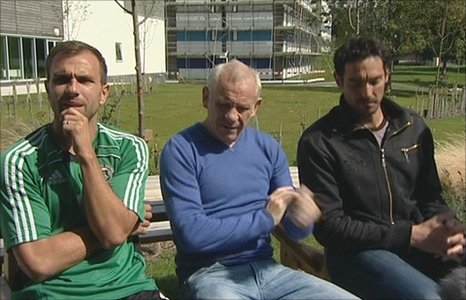 Carl Fletcher, Peter Reid and Romain Larrieu (l-r)