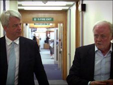 Andrew Lansley (l) and Sir Gerry Robinson
