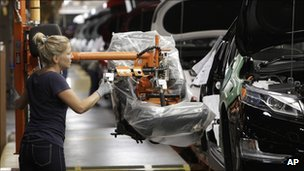 Worker at a Chrysler factory in Michigan