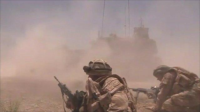 Soldiers in combat