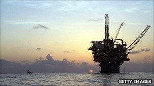 An oil platform located in the Gulf of Mexico