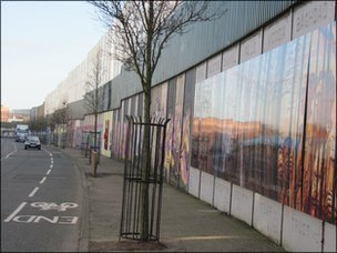 West Belfast peace wall