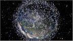 Artist's impression of debris in low Earth orbit, released by the European Space Agency (ESA)