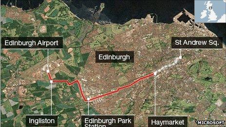Edinburgh trams map