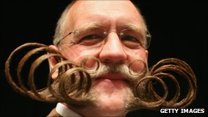 A competitor at the World Beard and Moustache Championships in Brighton, England, in 2007