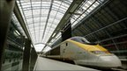 Eurostar train at St Pancras