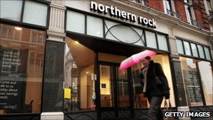 A Northern Rock high street branch