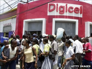 Digicel office in Haiti
