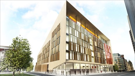 Computer generated image of the technology and innovation centre