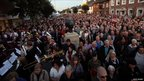 People in the high street during the Sunset Ceremony