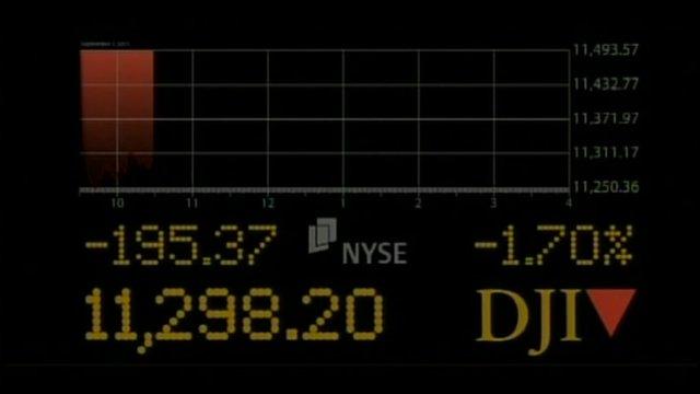 Dow Jones falling