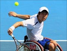 World number one men's player Shingo Kunieda of Japan