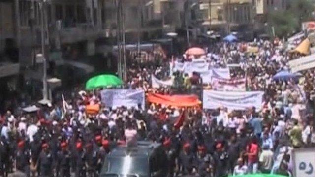 Protests in Jordan's capital, Amman