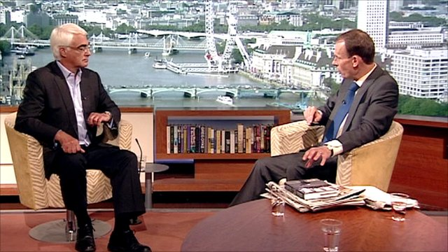 Alistair Darling and Andrew Marr