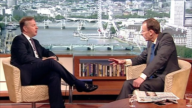Michael Gove on The Andrew Marr Show
