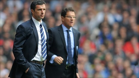 Gary Speed (left) and Fabio Capello