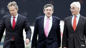 Tony Blair, Gordon Brown and Alistair Darling