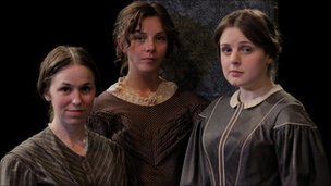 Catherine Kinsella, Sophia Di Martino and Rebecca Hutchinson in We Are Three Sisters