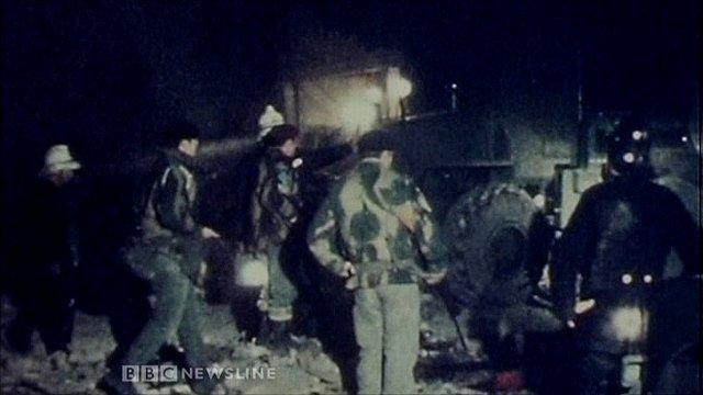 Scene of UVF bomb attack on McGurk's bar in 1971