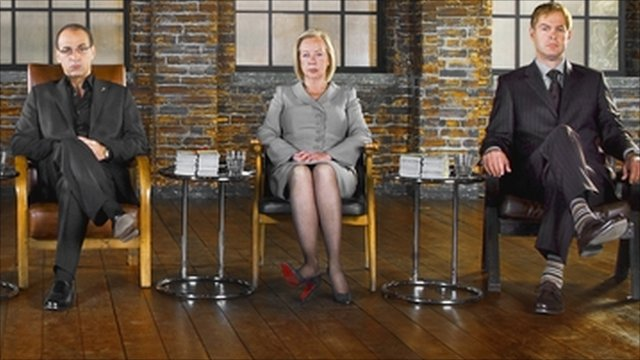 Theo Paphitis, Deborah Meaden and Peter Jones on Dragons' Den