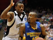 Brandon Shingles in action for Morehead State University