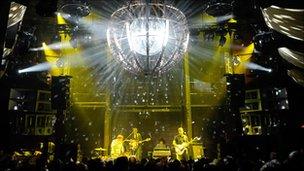 The Black Keys perform at the Cosmopolitan hotel's Marquee nightclub