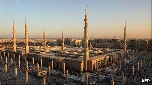 Al-Masjid al-Nabawi in Medina, Saudi Arabia