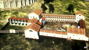A virtual video of the former Roman gladiator school that was found by underground radar is provided by the Ludwig Bolzmann institute for archaeology