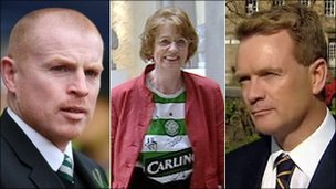 Neil Lennon, Trish Godman and Paul McBride QC