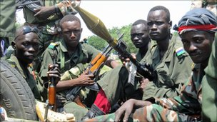 SAF soldiers with guns