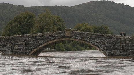The River Conwy at Llanrwst Photo: Rob Davies