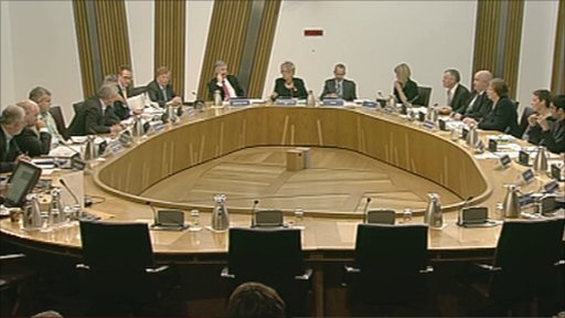 The Justice Committee and witnesses in the Scottish Parliament
