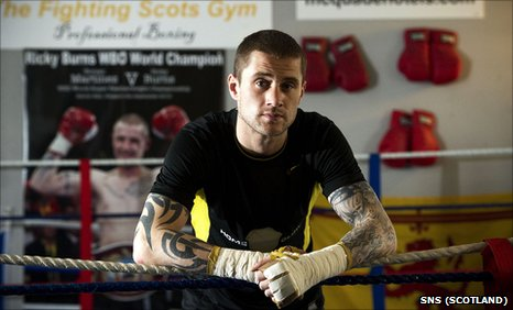 Scotland's WBO super-featherweight champion Ricky Burns