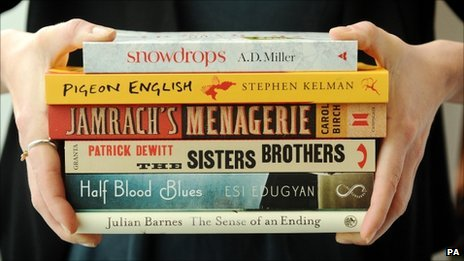 The shortlisted books for the Man Booker Prize 2011