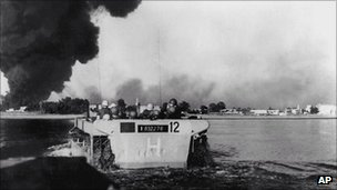 Fighting during Suez crisis of 1956