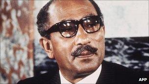 Former Egyptian President Anwar Sadat
