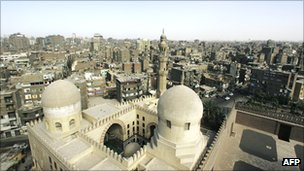 View of Old Cairo from the Al-Azhar Mosque