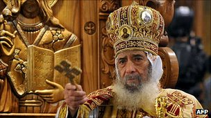 Pope Shenouda III, head of Egypt&#039;s Coptic Church