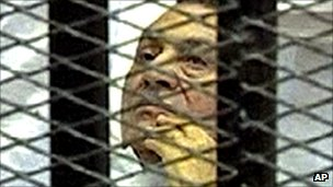 Former Egyptian President Hosni Mubarak