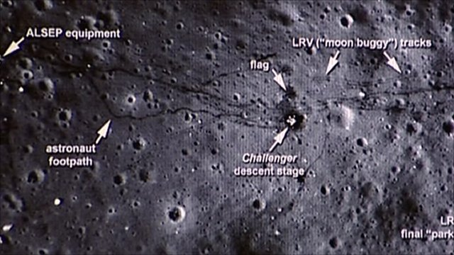 Nasa image of moon surface