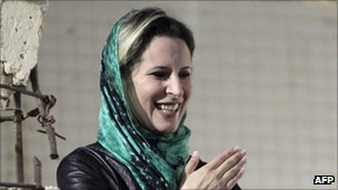 Archive photo of Aisha Gaddafi, April 2011