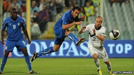 Italy beats Slovenia 1-0, qualifies for Euro 2012