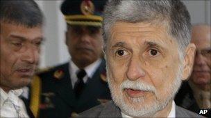 Brazilian defence minister Celso Amorim