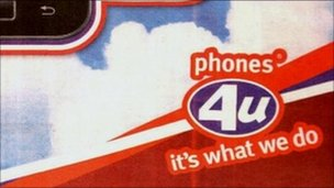 Phones 4 U advert