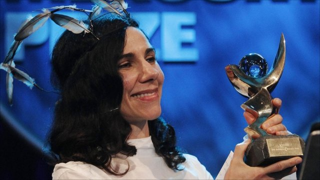 Singer-songwriter PJ Harvey at Mercury awards
