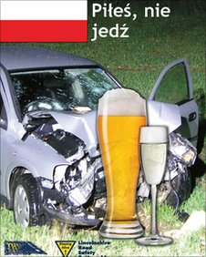Poster aimed at Polish drink drivers
